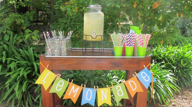 Pimms and lemonade stand